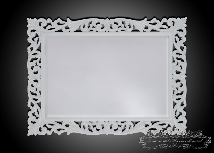 White Ornamental Mirrors From Ornamental Mirrors Limited