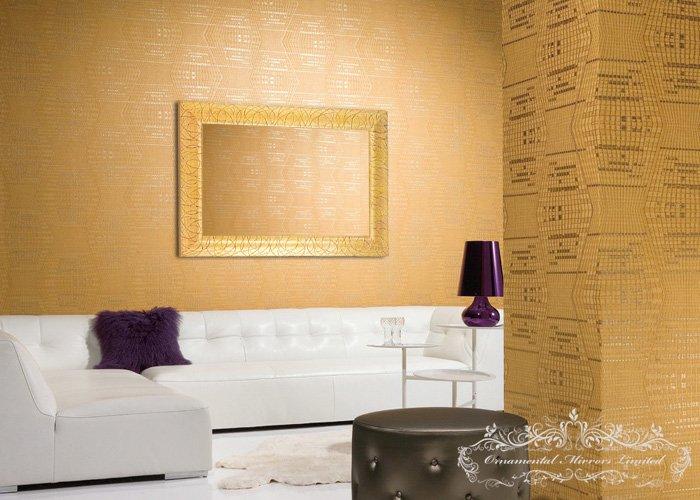 Rectangular Gold Glitter Mirrors From Ornamental Mirrors