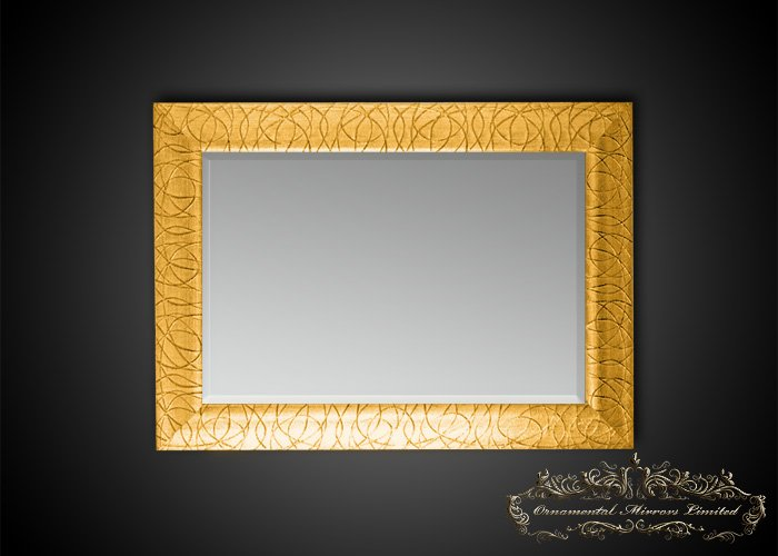 Rectangular Gold Glitter Mirrors From Ornamental Mirrors