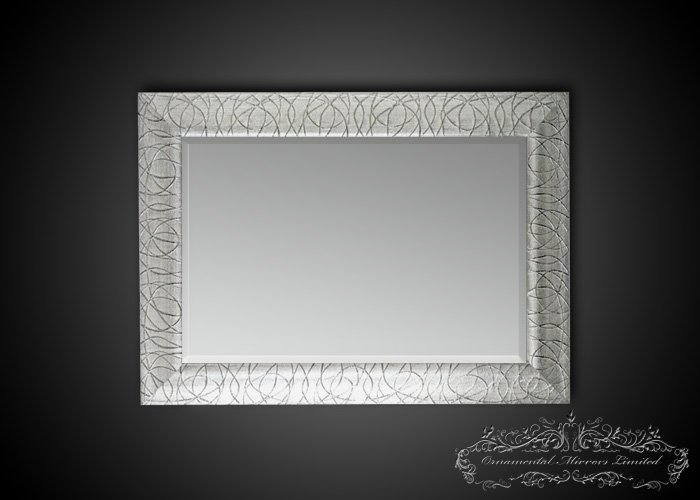 Rectangular Silver Glitter Mirrors From Ornamental Mirrors