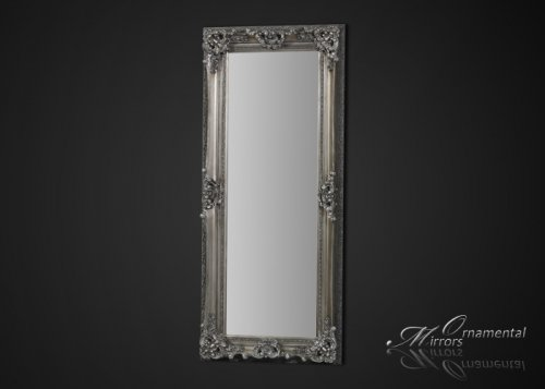 Royal Silver Framed Full Length Mirror