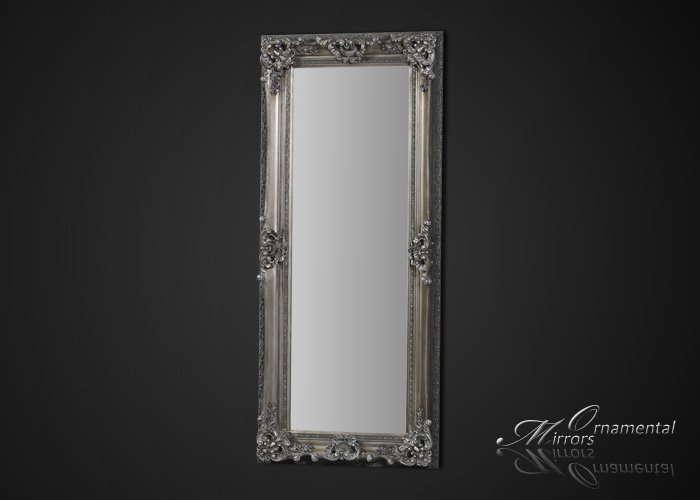 Silver framed full length mirror for Silver stand up mirror