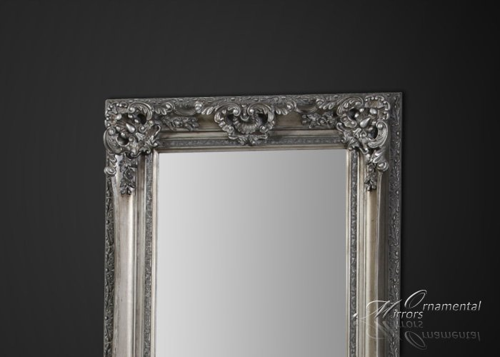 Silver framed full length mirror for Black framed floor length mirror