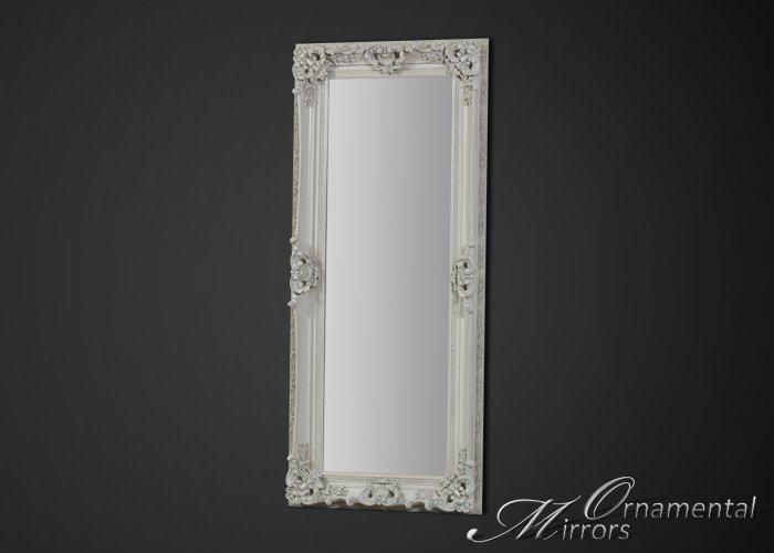 White Ornate Full Length Mirror