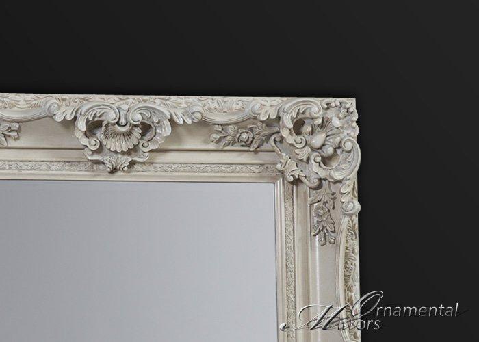 Cream ornate full length mirror