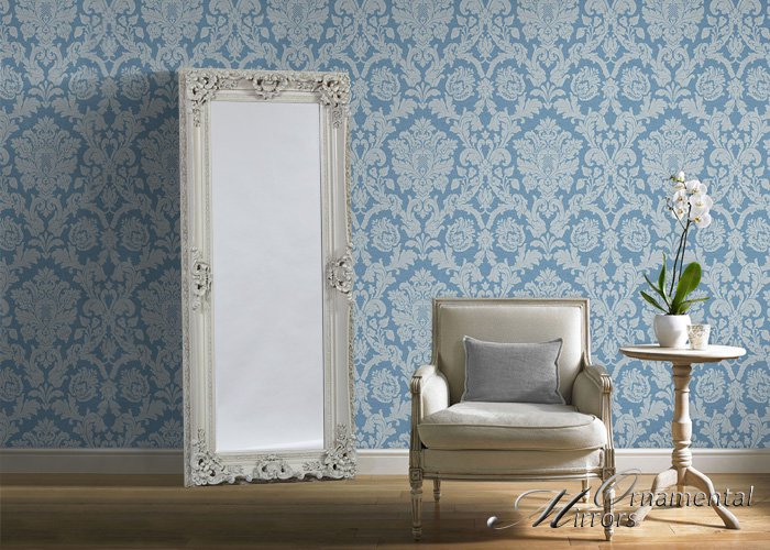 White Ornate Full Length Mirror