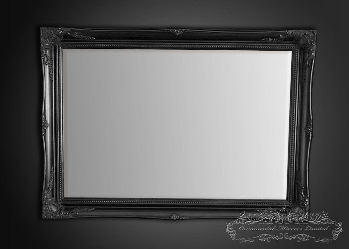 Small Black Decorative Mirrors: Black French Mirror From Ornamental Mirrors Limited