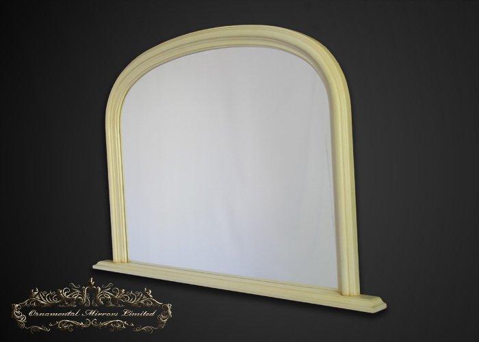 Classic Cream Overmantel Mirrors From Ornamental Mirrors