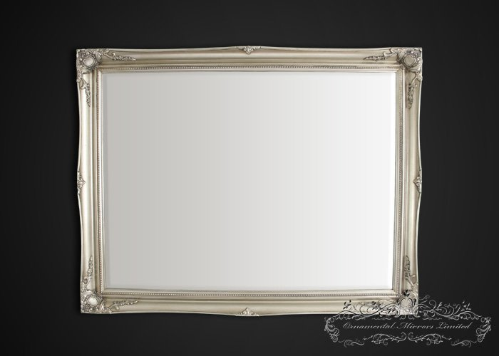 silver french mirror from ornamental mirrors limited