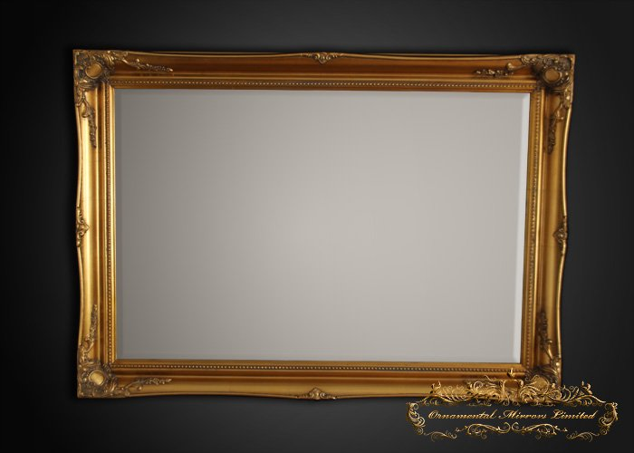 Simple Classic Gold French Mirrors From Ornamental Mirrors