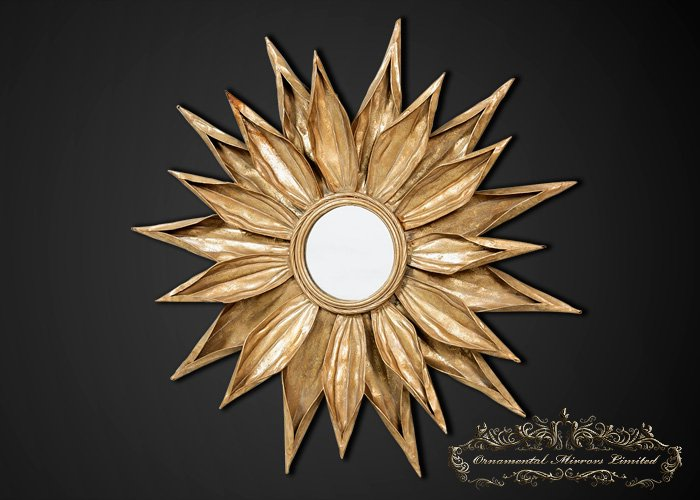 Sunflower Sunburst Mirror From Ornamental Mirrors Limited