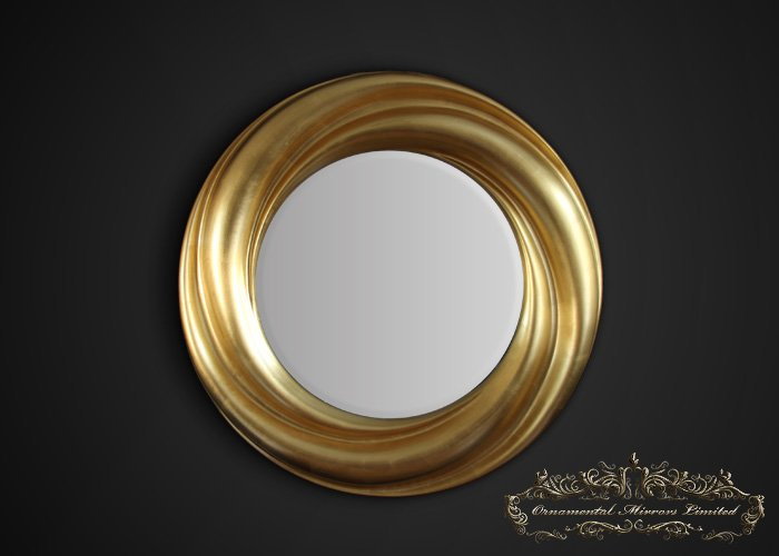 Completely new Gold Leaf Round Mirror RM09