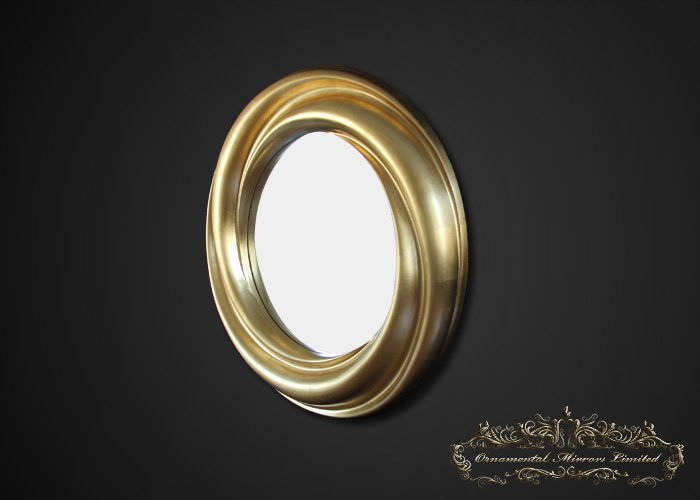 Gold Leaf Round Mirror