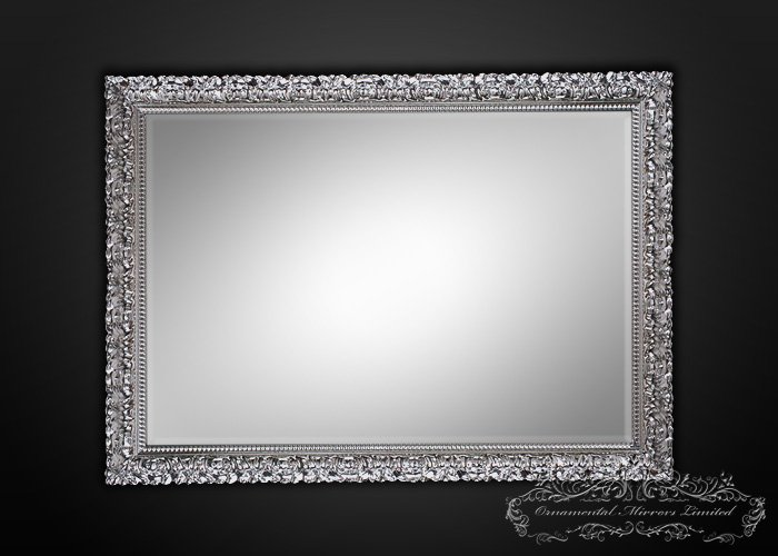 Temptation Rectangular Silver Wall Mirrors From Ornamental