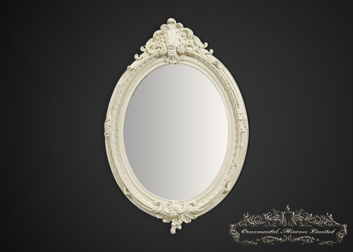 Cream Oval Mirror Large Cream Oval Mirror